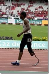 I've only got one leg, and I'm running.