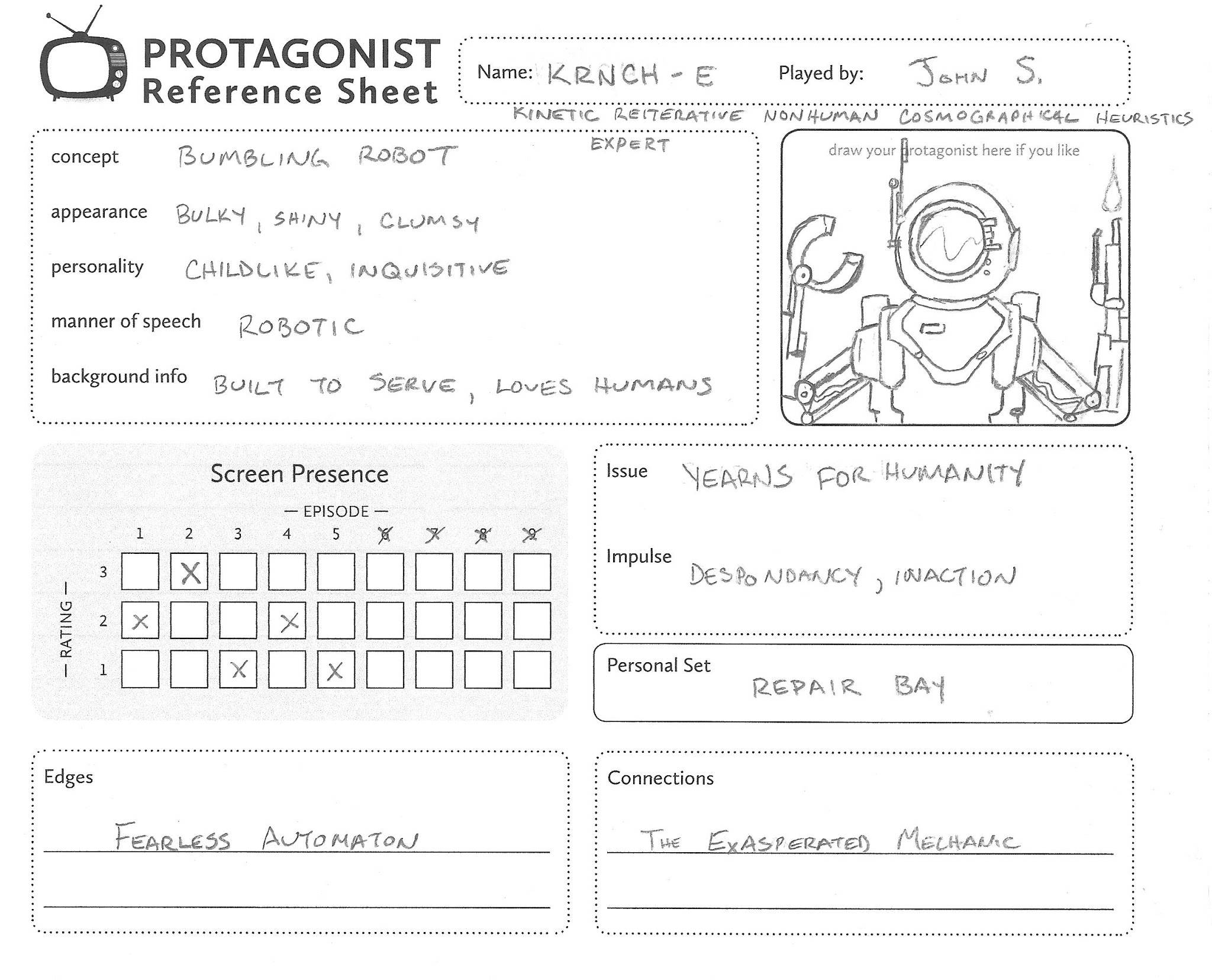 KRNCH-E's primetime adventures character sheet