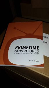 A picture of the cover of Primetime Adventures