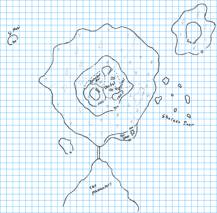 gridded example map