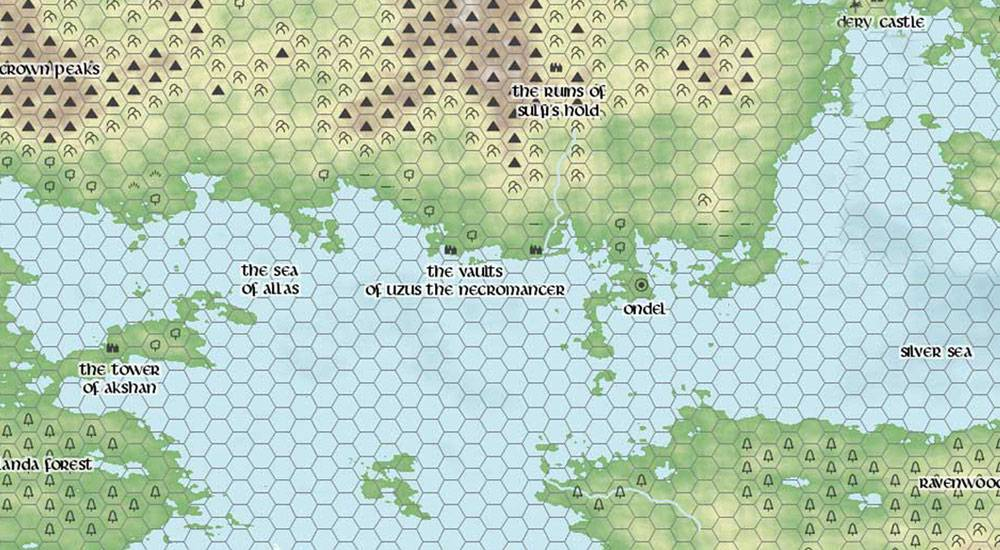 Map created with Donjon Fantasy World Generator