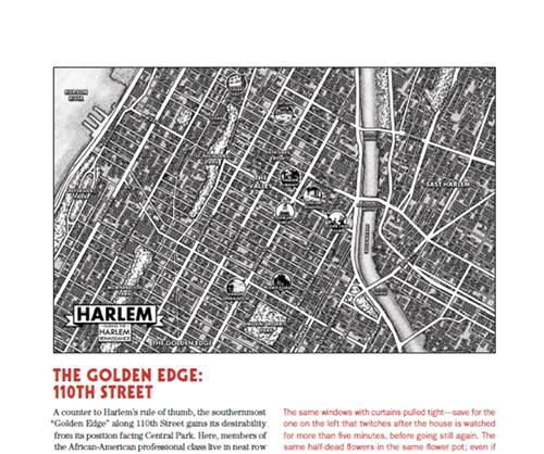 A map of Harlem in the 1920s from the game.