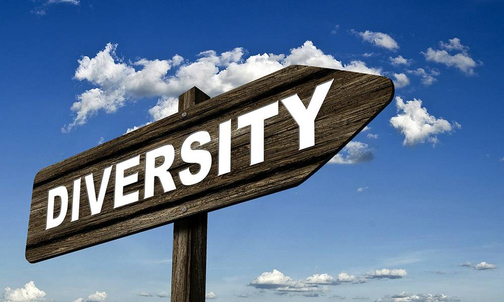 Sign post that says diversity