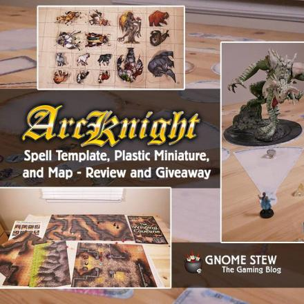 Arcknight Spell Templates, Plastic Miniatures, & Map – Review and Giveaway
