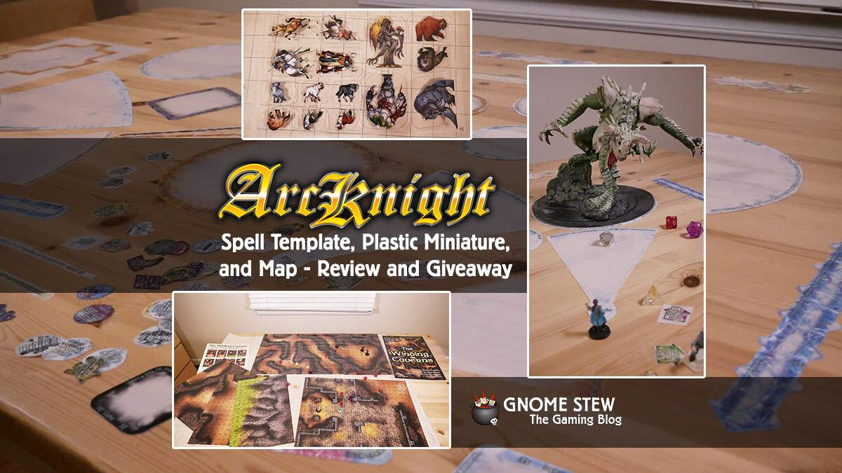 Arcknight Spell Templates, Plastic Miniatures, and Map - Review and Giveaway