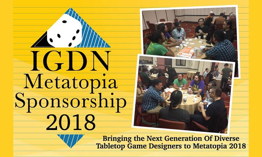 Banner for 2018 IGDN Metatopia Sponsorship