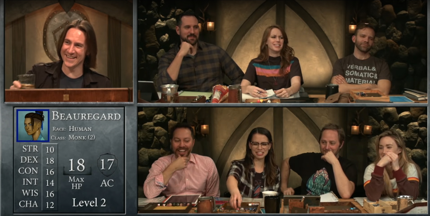 A screenshot from Curious Beginnings | Critical Role | Campaign 2, Episode 1