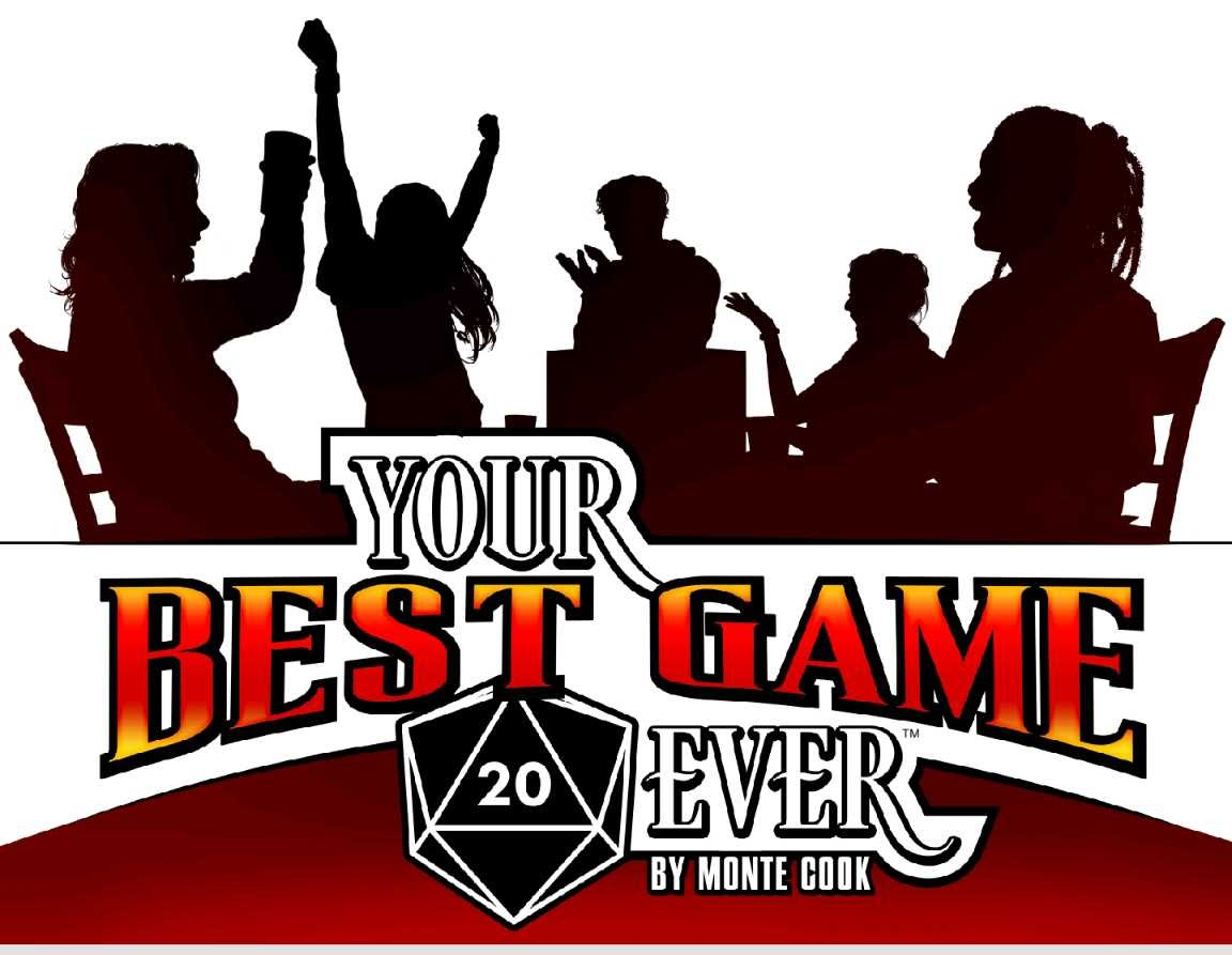 A silhouette of people around a game table, having fun.