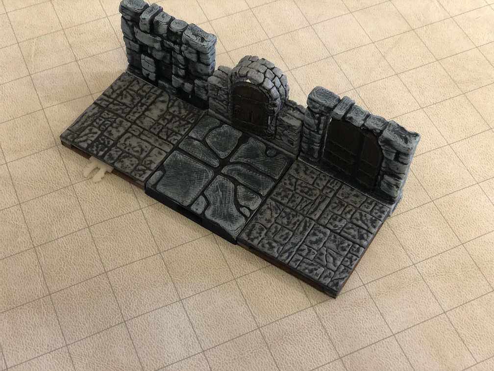 A combined set of 3D printed tiles and WarLock tiles.