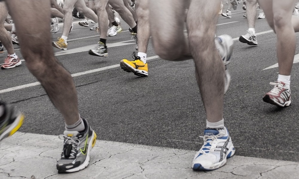 Runners Crossing Finish Line