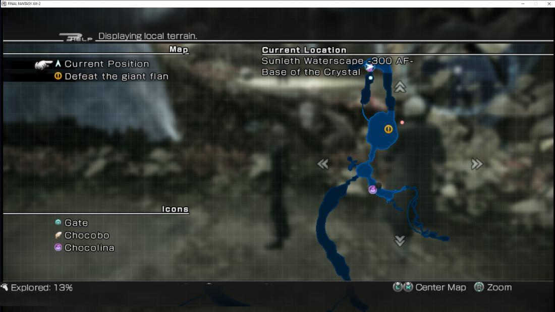 The minimap from ff13
