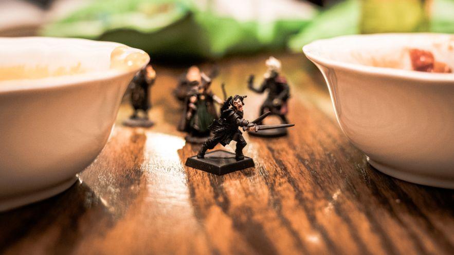 warrior fights through bowls
